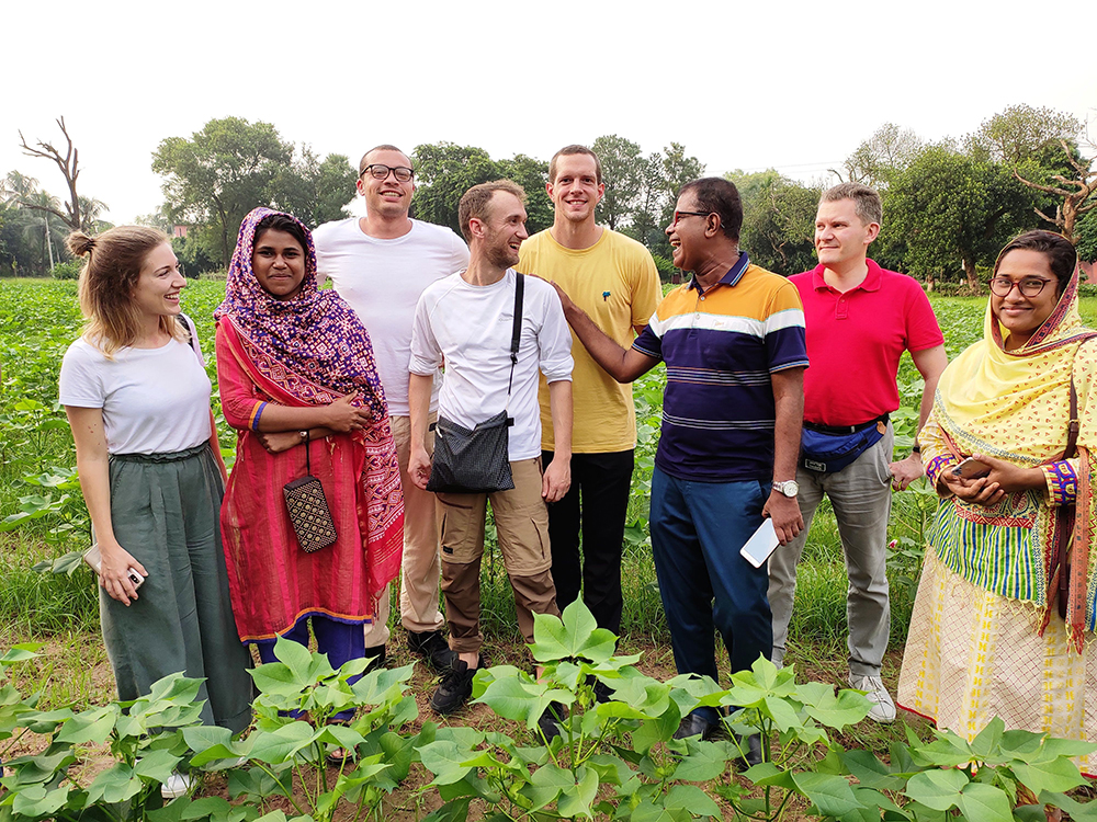 Stanley/Stella's team visiting the Cotton Filed & Research Centre in Dhaka, in September